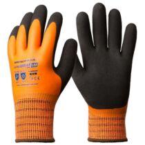 1LAWO Eurowinter téli narancs kesztyű latex tenyérrel + CSB réteggel (8-11)