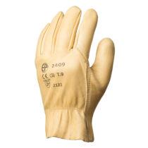 Bőrkesztyű sárga színmarha tenyérrel és kézháttal, víztaszító (8-11)