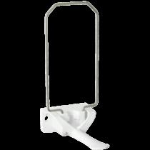 Combi Plum Easy rozsdamentes acél adagoló fehér könyökkarral 1l-es tasakhoz