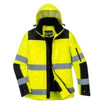 C469 3 az 1-ben kabát sárga/fekete színben (S-3XL)