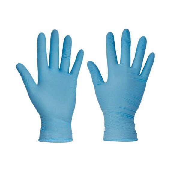 Barbary púderes kék nitril kesztyű (100db/doboz) - S-M-L-XL méretekben