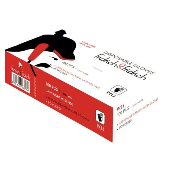 FF Loon Light HS-06-002  púderes latex kesztyű (200db-os doboz)