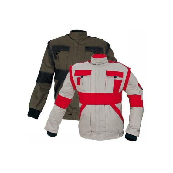 Max kabát 260g/m² szürke-piros színben (38-68)