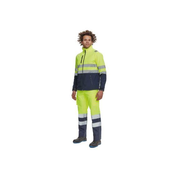 Granada softshell HV sárga/navy kabát (S-3XL)