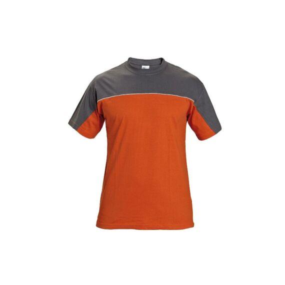 Desman rövid ujjas szürke-narancs póló (S-3XL)
