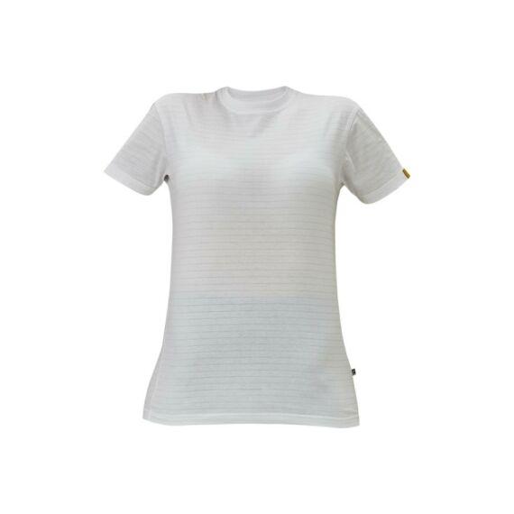 Noyo ESD környakú póló fehér (XS-3XL)