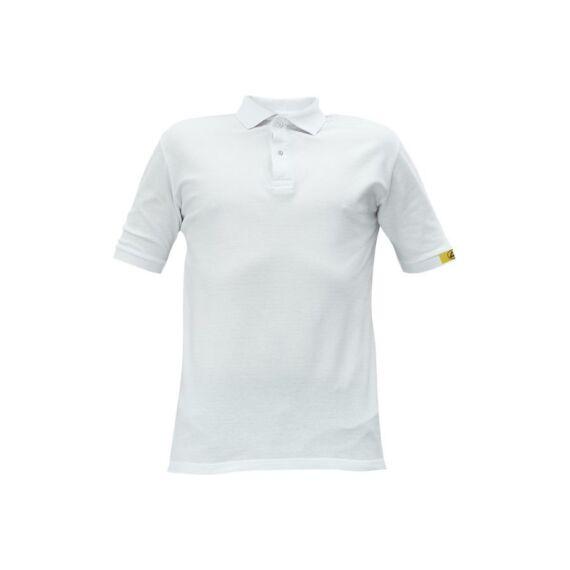 Noyo ESD galléros rövid ujjú póló fehér (XS-3XL)