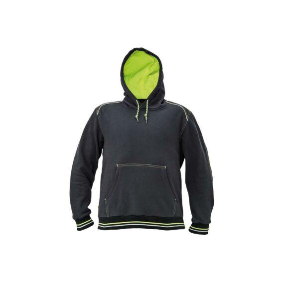 Knoxfield kapucnis pulóver szürke/sárga színben (XS-3XL)