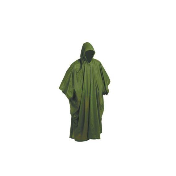Poncsó PVC zöld esőköpeny