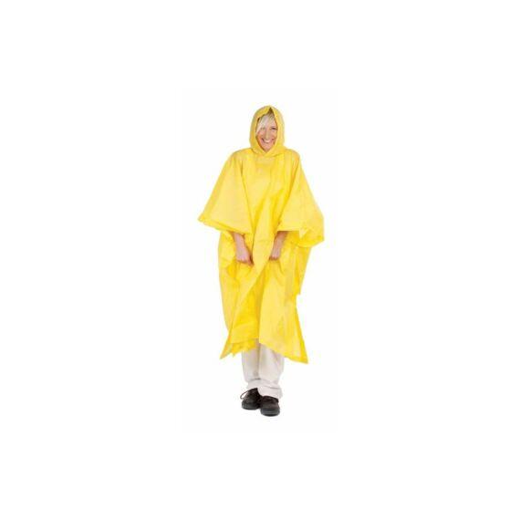 Poncsó PVC sárga esőköpeny