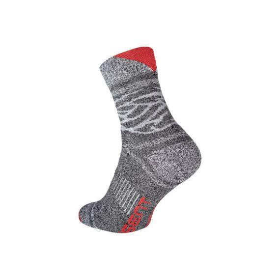 Owaka szürke-piros zokni (39-46)