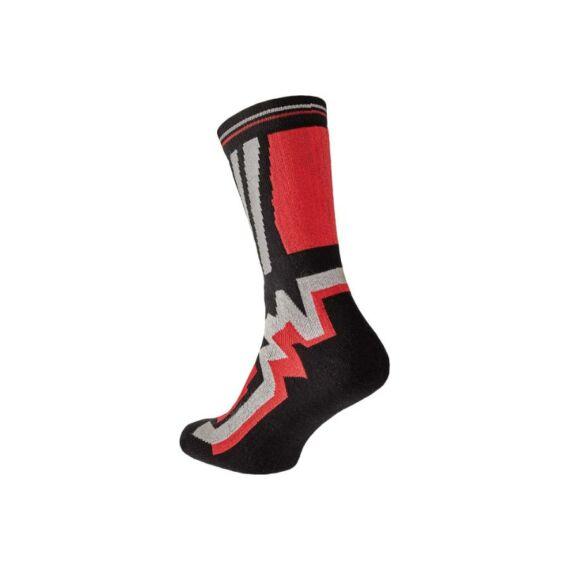 Knoxfield Long fekete-piros zokni (39-46)