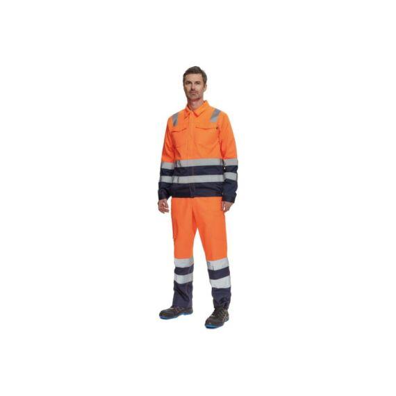 Valencia HV kabát narancssárga/navy (46-64)