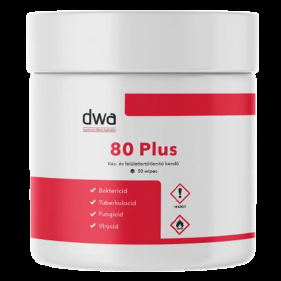 DWA 80 Plus fertőtlenítő kendő (50 lap/doboz)