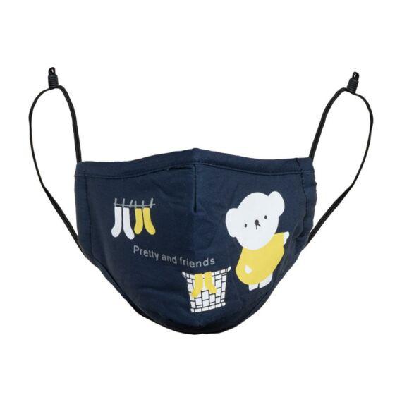 Potts Kids gyermek navy arcmaszk PM2,5