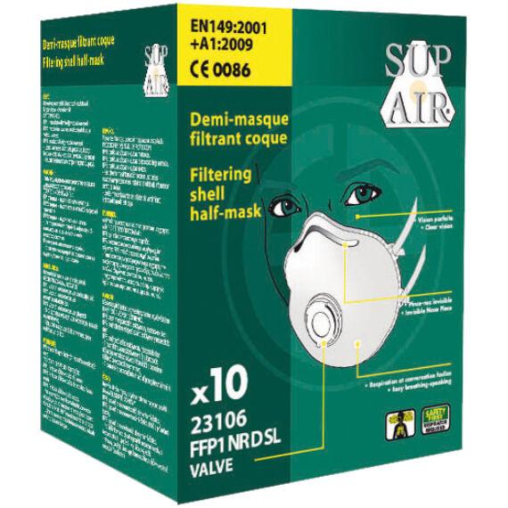 SupAir FFP1SL NR D szelepes csésze formájú pormaszk (10db-os doboz)