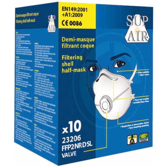 SupAir FFP2SL NR D csésze formájú szelepes pormaszk (10db-os doboz)