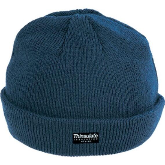 Kötött Thinsulate téli sapka kék színben