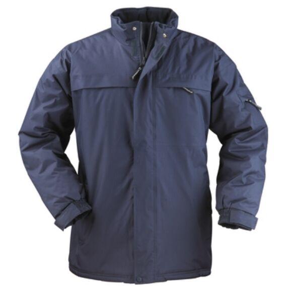 Kaban kék PE/PVC bélelt kabát (S-3XL)