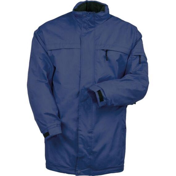 Pole-Ouest kék bélelt kabát (XS-3XL)
