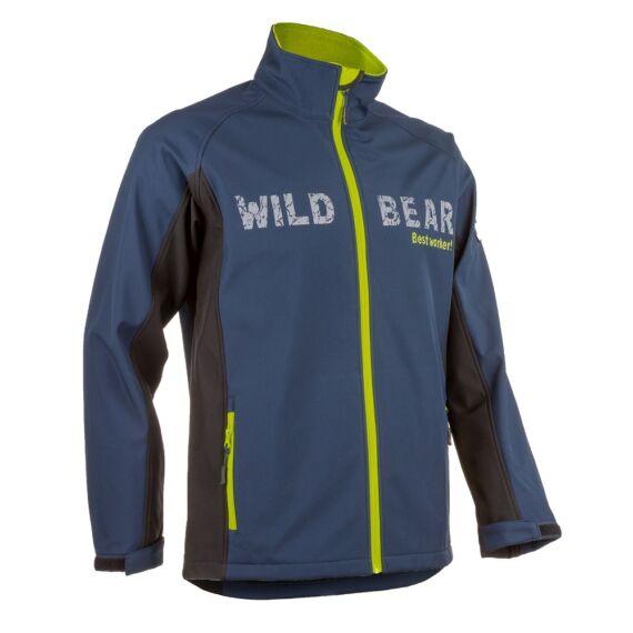 Piman kék/lime sportos férfi softshell kabát (S-3XL)