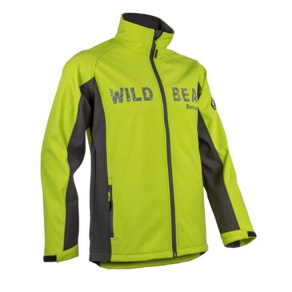 Piman lime színű sportos férfi softshell kabát (S-3XL)