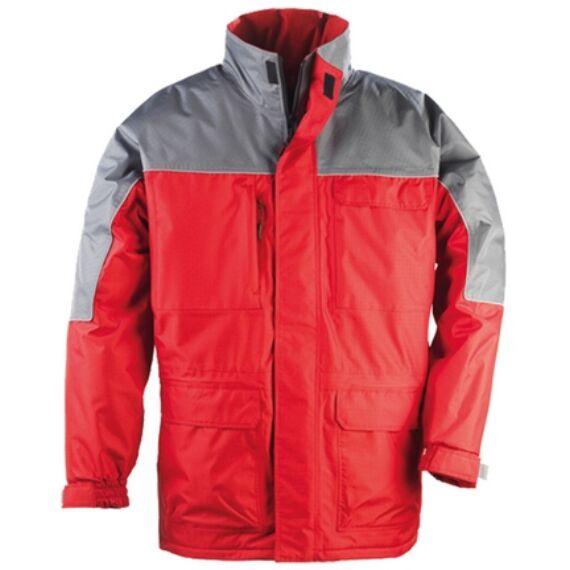 Ripstop piros/szürke kabát (S-3XL)