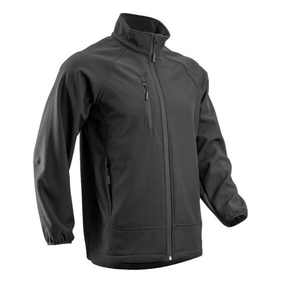 Soba fekete férfi softshell kabát (S-3XL)