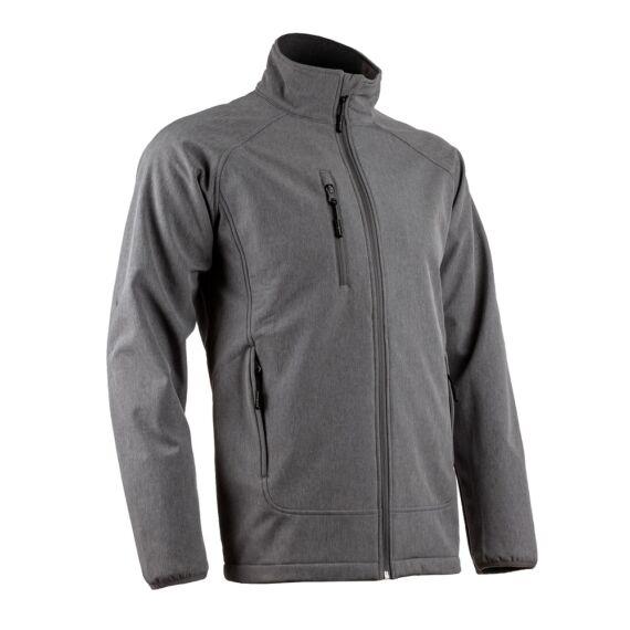 Soba szürke férfi softshell kabát  (S-3XL)