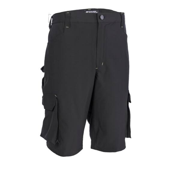 Tenerio rugalmas és könnyű fekete rövid nadrág (S-4XL)