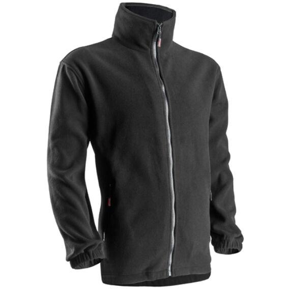 Polár pulóver cipzáras fekete színben (XS-3XL)