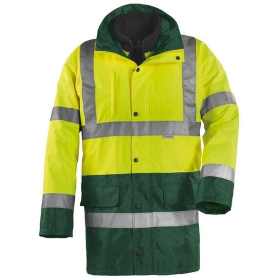 Fluo 4 az 1-ben sárga-zöld kabát (M-3XL)