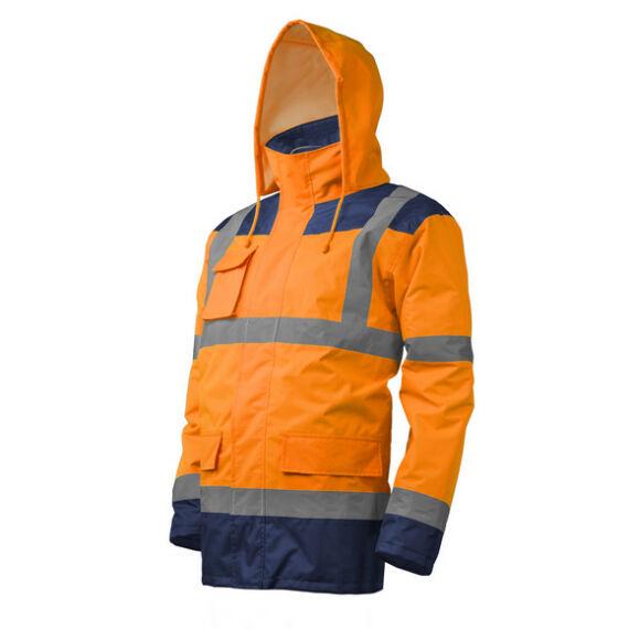 Kanata 4az1-ben Hi-Viz narancssárga/kék PE kabát (S-3XL)