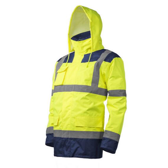 Kanata 4az1-ben Hi-Viz sárga/kék PE kabát (S-3XL)