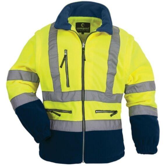 Fluo pulóver levehető ujjú sárga/kék színben (M-XXL)