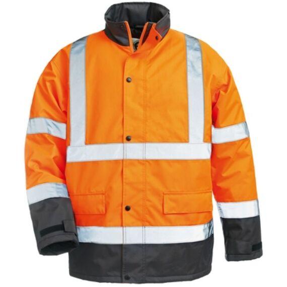 Roadway  narancs/kék PES kabát (S-XXL)