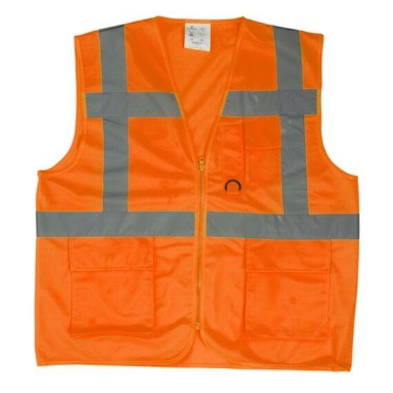 Yard többzsebes fluo mellény narancssárga színben (XL vagy XXL méretben)