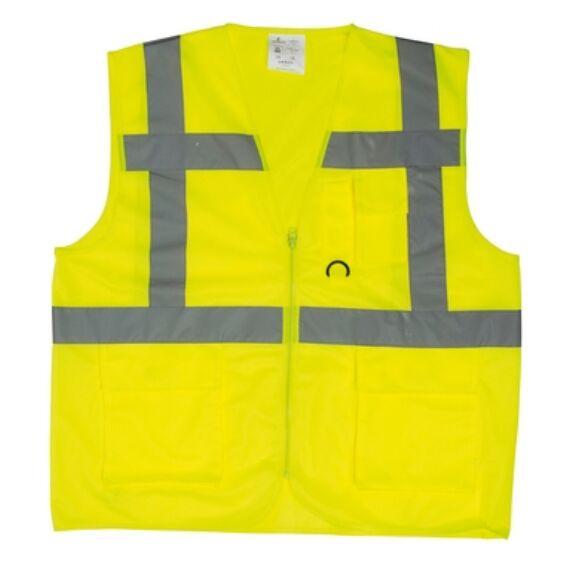 Yard többzsebes fluo mellény sárga színben (XL vagy XXL méretben)