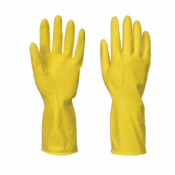 A800 - Háztartási sárga latex kesztyű (9/10)