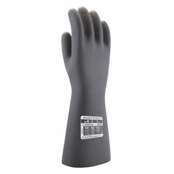 A820 Neoprén fekete vegyszerálló kesztyű (8-10)