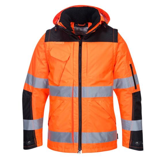 C469 3 az 1-ben kabát narancssárga/fekete színben (S-3XL)