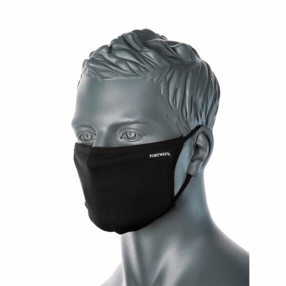CV33 3 rétegű anti-mikrobiális fekete arcmaszk