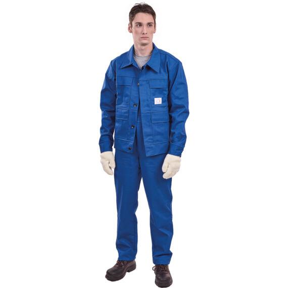 Lángálló kék melles öltöny (44-66)