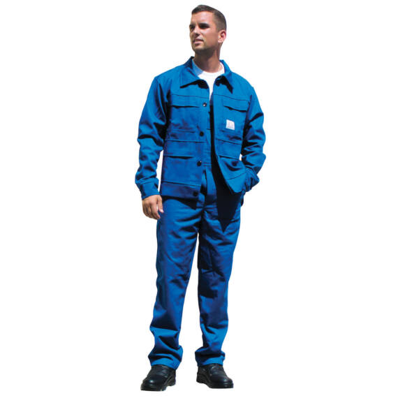 Antisztatikus lángálló kék kabát (44-60)