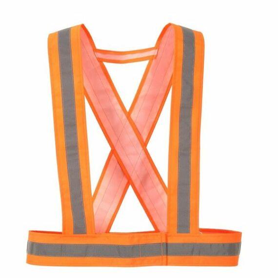 HV55 - Láthatósági kantár narancssárga színben