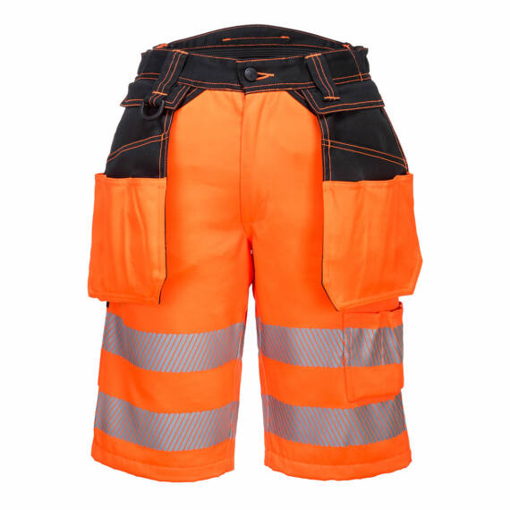 PW343 PW3 Hi-Vis Holster narancs-fekete rövidnadrág (30-42)