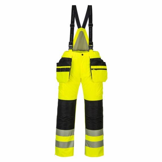 PW351 PW3 Hi-Vis téli nadrág sárga-fekete télikabát (S-4XL)
