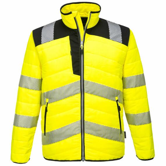 PW371 PW3 Hi-Vis sárga-fekete baffle kabát (S-5XL)