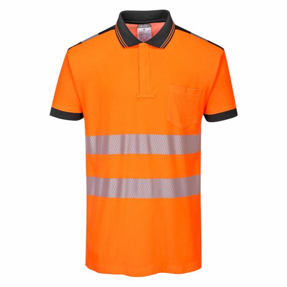 T180 PW3 Hi-Vis narancs-fekete pólóing (XS-4XL)