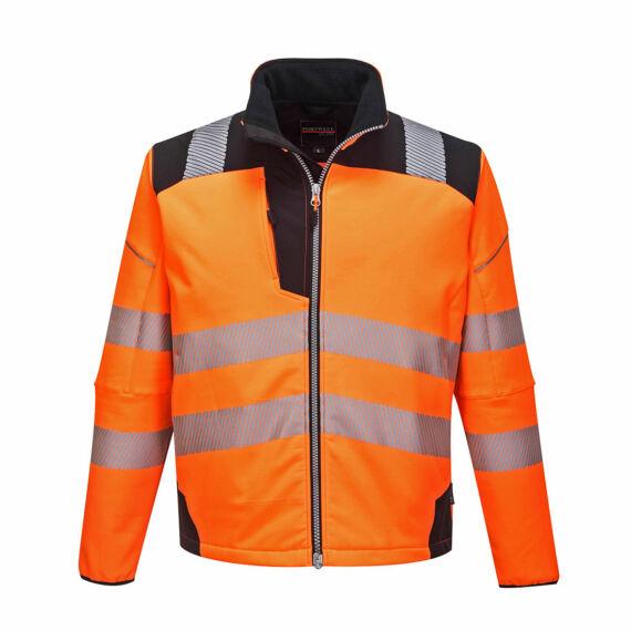 T402 PW3 Hi-Vis narancssárga-fekete softshell kabát (XS-4XL)